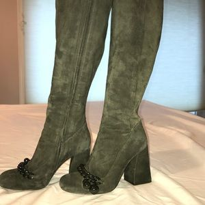 Tory Burch Addison boots in Green